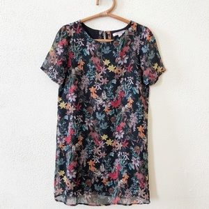 Forever 21 Contemporary Floral Shift Dress XS
